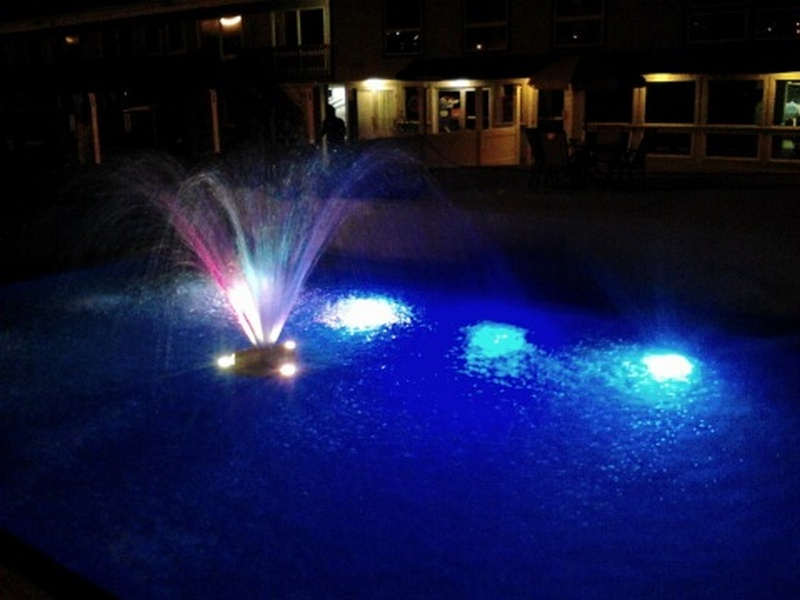 We invite you to enjoy our new water fountain area with under water fiber-optic lighting.