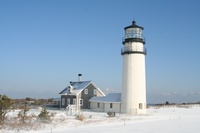 Highland Light in the snow