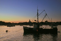 Provincetown Fishing Dragger at Dusk