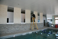 Installing Glass for Water Walls!
