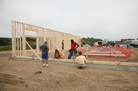 First Wall Goes Up!