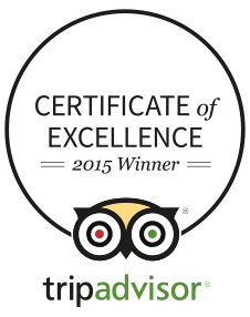 Tip Advisor Certificate of Excellence - 2015