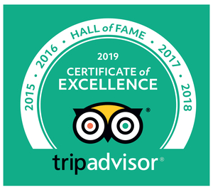 Tip Advisor Certificate of Excellence - 2019